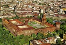 Aerial view of Sforza Castle