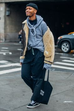See the best looks spotted by Melodie Jeng between shows this Menswear week in New York.