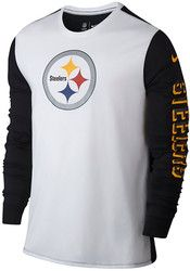 Nike Pitt Steelers Mens White Champ Drive 2.0 Performance Tee Pitt Steelers 19136c09c