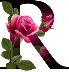 Letter R vector alphabet with rose flower ABC concept type as logo Typography design - Shutterstock Alphabet Design, R Letter Design, Letter Art, Alphabet Wallpaper, Name Wallpaper, Flower Alphabet, Flower Letters, Abc Alphabet, Monogram Alphabet