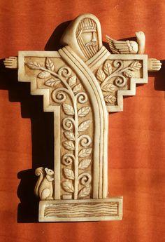 Saint Francis carving.