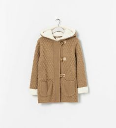 Image 1 of KNIT OVERCOAT WITH BUTTONS from Zara