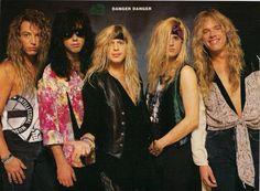 Danger Danger - Hearts On The Highway(part - CVT Guitar Lesson by Mik. 80s Hair Metal, Hair Metal Bands, 80s Hair Bands, Glam Metal, Hard Rock, Eighties Hair, Heavy Metal, 80s Rock Bands, Bret Michaels