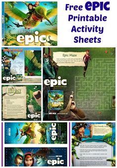 Free EPIC Printable Activity Sheets - Life Love Liz