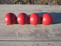 Set of 4 Vintage Red Candle pin Bowling Balls Approx 2 Pounds 6 Ounces  BC4
