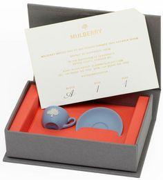 Mulberry Spring 2014 London Fashion Week Invite: Tiny Wedgwood Teacups