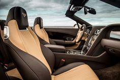 2016 Bentley Continental Gt W12 Convertible Interior Front Seats