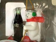 Vintage Coca Cola Polar Bear Christmas Collectible Ornament