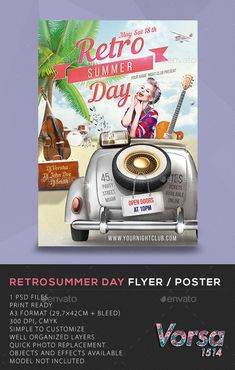 Summer Day Flyer / Poster — Photoshop PSD #advertising #poster • Available here…