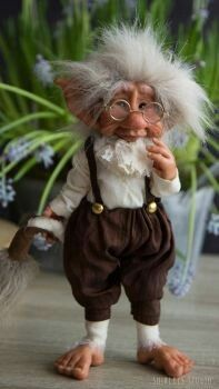 Troll Allart by ShirleysStudio on DeviantArt Forest Creatures, Woodland Creatures, Magical Creatures, Clay Fairies, Elves And Fairies, Troll Dolls, Fairy Dolls, Elf Doll, Kobold
