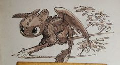 """skunkandburningtires: """" How to Train Your Dragon 2 writer/director Dean DeBlois' sketches of Hiccup and Toothless. Via: The Art of How to Train Your Dragon 2 � Dragons Dreamworks, Httyd Dragons, Cute Dragons, Dreamworks Animation, Toothless Drawing, Toothless And Stitch, Hiccup And Toothless, Baby Toothless, Toothless Tattoo"""