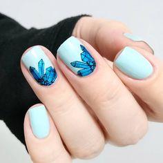 Elegant unicorn #nailstamping, do you like it? More details shared in bornprettystore.com, try the #stampingnailart soon. #unicornnails
