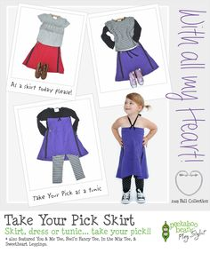 Take Your Pick Skirt - Peekaboo Beans - Playwear for kids on the grow!! Join our growing vine of Play Stylist and be a part of this amazing company. Visit www.peekaboobeans.com/jennym to find out how!