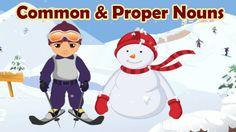 Come ski down Noun Mountain with Mr. Mogul. He will help you identify proper and common nouns. Recommended for grade 1. Parts, speech, common, proper, nouns,...