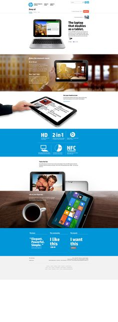 Tablet HP - The all-new HP Envy X2.    #interactive #design http://www8.hp.com/us/en/ad/envy-x2/overview.html