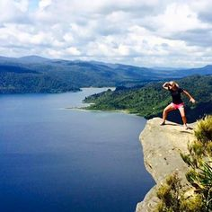 Panekire Bluff overlooking Lake Waikaremoana, one of New Zealand's Great Walks. What are you looking for Victoria?