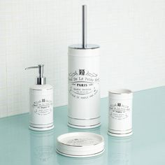 Sorted for the loo brush! Home Collection White Paris bathroom accessories- at Debenhams.com