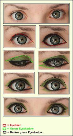 Green Eyes [Cosplay make-Up] by JackyChip on deviantART