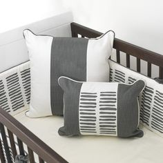 Modern Sticks Crib Bedding + Bumper - this baby bedding is perfection in a mod nursery! #PNpartner