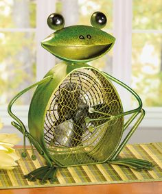 Look at this Frog Metal Fan on #zulily today!