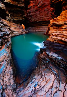 A remote canyon, Karijini National Park is a National Park centered in the Hamersley Ranges of the Pilbara region in northwestern Western #Australia