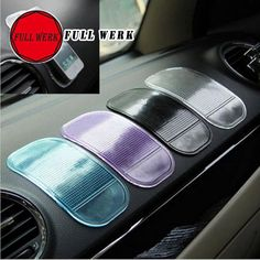 2pcs Automobile Interior Accessories Anti Slip Car Sticky Anti-Slip Mat for Mobile Phone, mp3, mp4, GPS