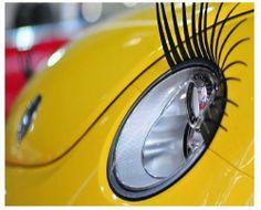 Amazon.com: 3D Car Eyelashes Headlight Lamp Auto sticker Pair with Pink crystal eyeliner: Automotive