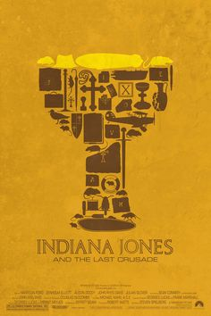 Indiana Jones Holy Grail Minimalist Poster