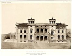 Elevation of the projected Villa of the Count of B., France