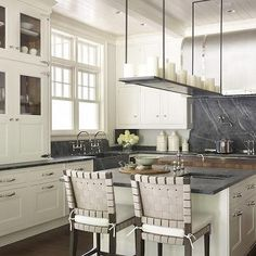 Soapstone KItchen Island, Contemporary, kitchen, Hickman Design Associates grey marble countertops