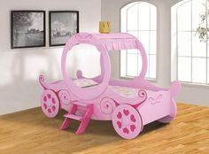 Princess K Carriage Bed Princess Carriage Bed, Unique Kids Beds, Little Girl Beds, Bedroom Themes, Girls Bedroom, Bedroom Ideas, Bed Ideas, Bedroom Designs, Kids Bedroom Furniture