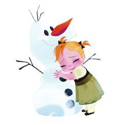 """""""Hi, I'm Olaf, and I like warm hugs!"""" """"I love you, Olaf!"""""""
