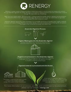 What is anaerobic digestion? Anaerobic digestion is a waste to energy treatment that turns food waste into energy and renewable natural gas. Anaerobic Digestion, Waste To Energy, Digestion Process, Composting, Food Waste, Herbs, Herb, Medicinal Plants