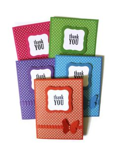 Thank you Cards Polka Dotted Cards - I like the simple idea - although maybe emboss the polka dots instead of having them two-tone?