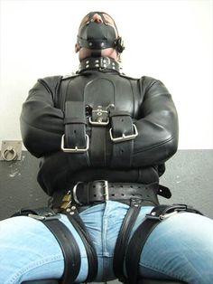 bondage Gay leather straitjacket