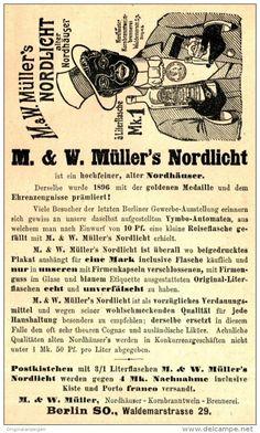 Original-Werbung/ Anzeige 1897 - MÜLLER'S NORDHÄUSER NORDLICHT/  KORNBRANNTWEIN…