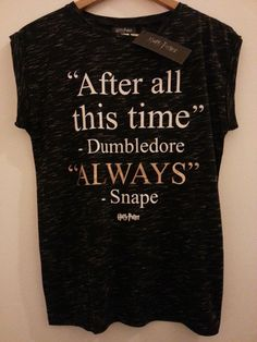 Primark Harry Potter T Shirt Snape Always Dumbledore Quote Alan Rickman. $20.79