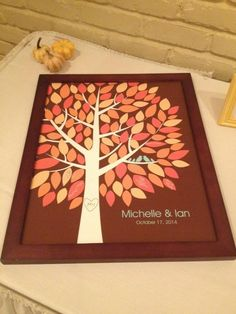 instead of a guest book Michelle & Ian's Wedding 10/17/14