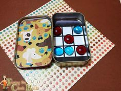 An Altoids tin DIYs into a tic-tac-toe travel game.   28 Household Items You Can Repurpose For Your Kids