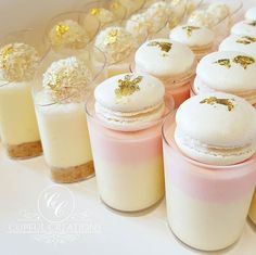 Mini Desserts, Shot Glass Desserts, Individual Desserts, Delicious Desserts, Dessert Recipes, Mini Dessert Shooters, Mini Dessert Cups, Dessert Bars, Dessert Table