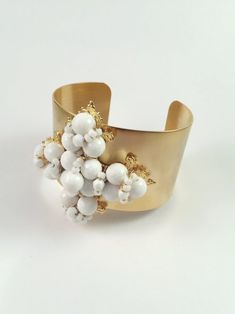 This beautiful piece has a wide cuff to set the foundation for a Nikki Witt signature cross. Hand-wired vintage beads contrast with the golden cuff. Cuff Bracelets, Cuffs, Beads, Vintage, Beautiful, Jewelry, Fashion, O Beads, Jewellery Making
