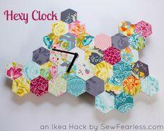 Hexagon Quilt Clock Tutorial (Ikea Hack)