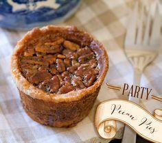 Mini Thanksgiving Pie Recipes {Pumpkin + Pecan}