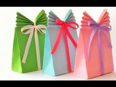 Bolsas de papel para regalo con decoracion facil y bonito - YouTube