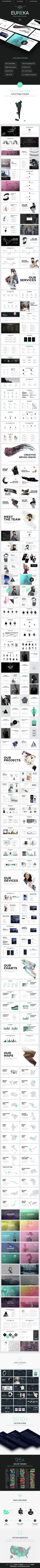 If you are looking to make a strong professional impact, go with this Modern Minimalist Powerpoint Template. It has a very clean, formal look that is perfect for your next big presentation.