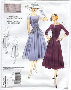 awesome Vintage Vogue 1044 - Out of Print 1950 Dress Sewing Pattern 1950s Style, Vintage Outfits, Vintage Dresses, 1950s Dresses, Vintage Clothing, Vogue Sewing Patterns, Clothing Patterns, 1950s Fashion, Vintage Fashion