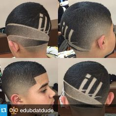 Work done by NBA approved barber @edubdatdude  4am fade with an ILL part design www.nationalbarbersassociation.com