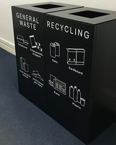 Waste culture Do you have a waste disposal culture at your hub? Did you know office supplies such as paper pen folders batteries computers phones cardboard can all be recycled? Well now you know ensure you dispose items properly. Recycling Station, Recycling Containers, Recycling Bins, Cardboard Recycling, Plastic Recycling, Recycling Projects, Office Bin, Office Fit Out, Office Furniture Uk