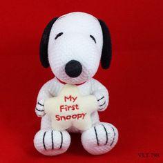Snoopy Peanuts TV Cartoon Character Baby Snoopy My First Snoopy Plush Stuffed Baby Snoopy, Snoopy Nursery, Snoopy Plush, Snoopy Love, Crib Toys, Peppermint Patties, Cartoon Tv, First Baby, Baby Boy Shower