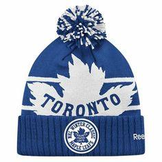 47ca94e97e7 Reebok Toronto Maple Leafs Winter Classic 2014 Goalie Cuffed Hat - Navy  Blue White